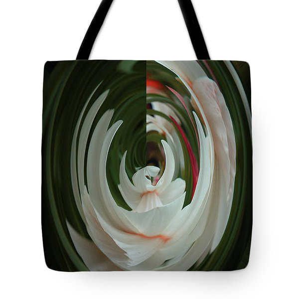 Tote Bag featuring the photograph White Form by Nareeta Martin