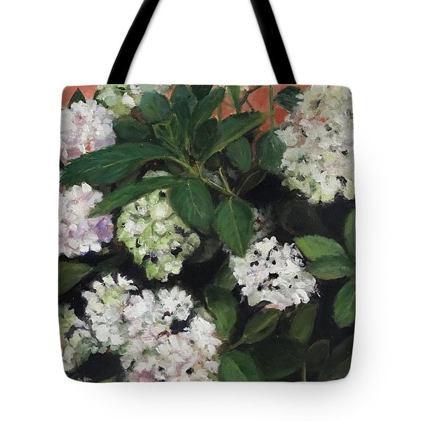 White Hydrangeas  Tote Bag