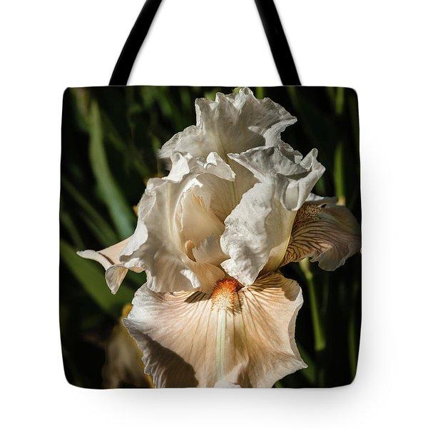 White Iris Tote Bag by Robert Bales