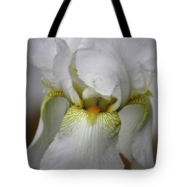 White Iris Tote Bag by Teresa Mucha