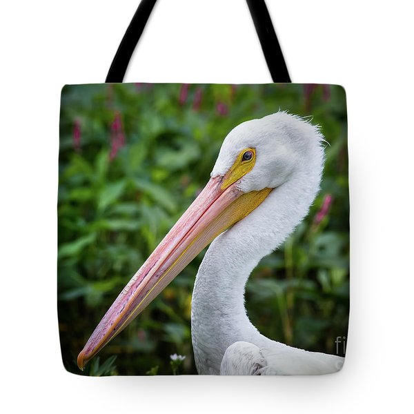 Tote Bag featuring the photograph White Pelican by Robert Frederick