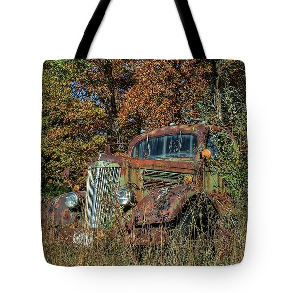 Tote Bag featuring the photograph White Truck by Jerry Gammon