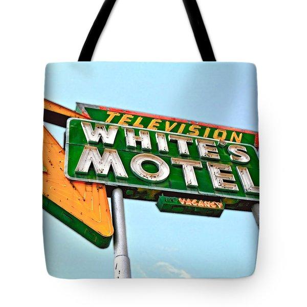 White's Motel Tote Bag