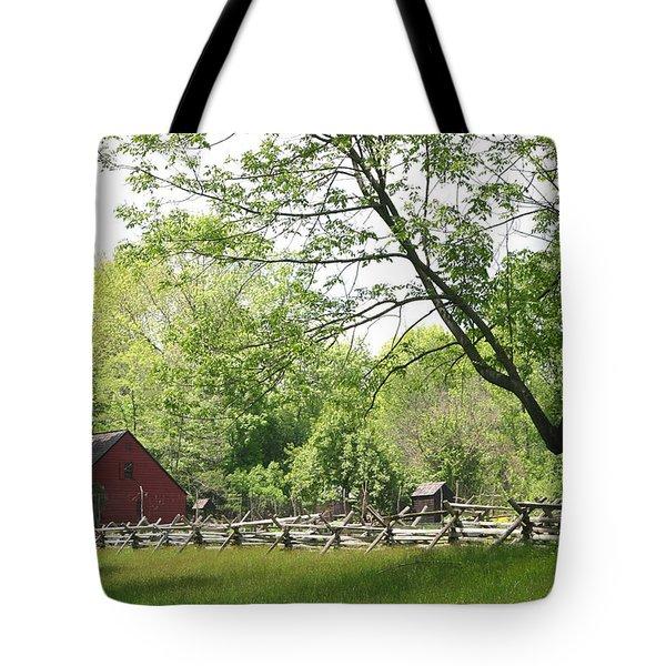 Wick Farm At Jockey Hollow Tote Bag
