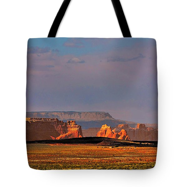 Wide-open Spaces - Page Arizona Tote Bag by Christine Till