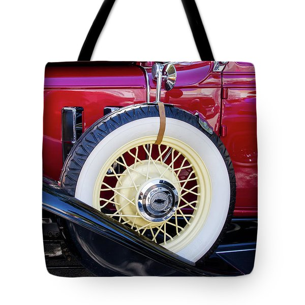 Wide Whitewall Spare Tire Tote Bag