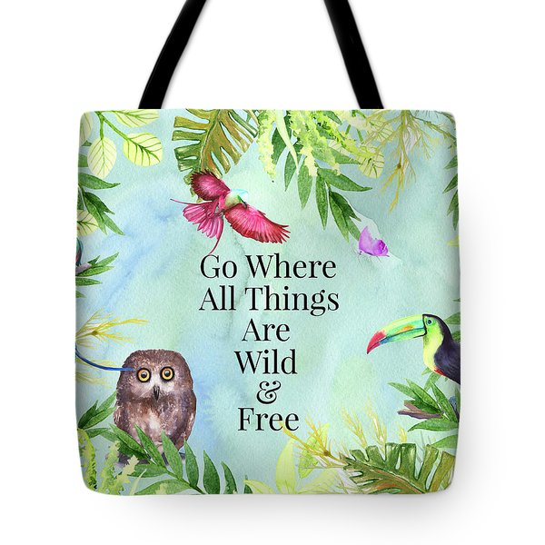 Tote Bag featuring the digital art Wild And Free by Colleen Taylor