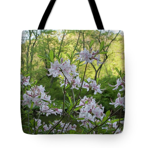 Tote Bag featuring the photograph Wild Azaleas 2 by Chris Scroggins