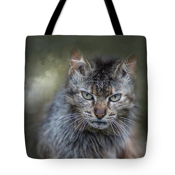 Wild Cat Portrait Tote Bag