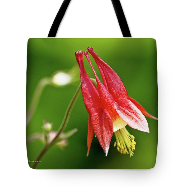 Wild Columbine Flower Tote Bag