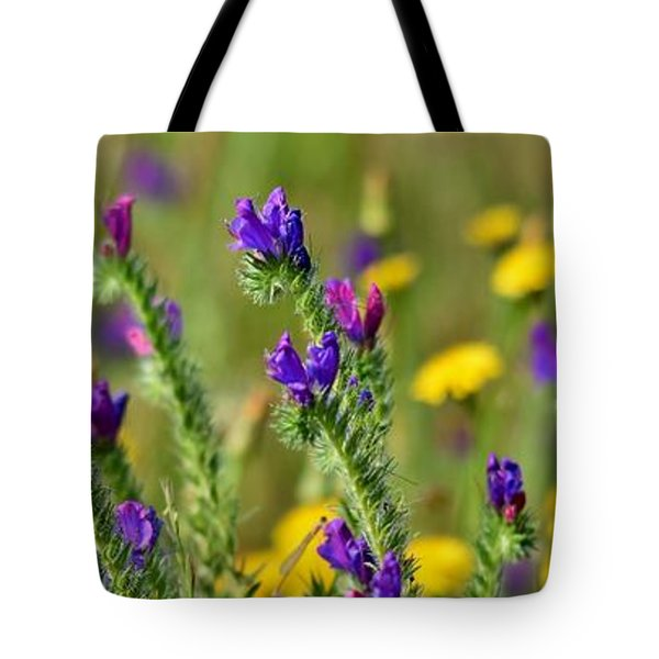 Tote Bag featuring the photograph wild Flowers by Werner Lehmann