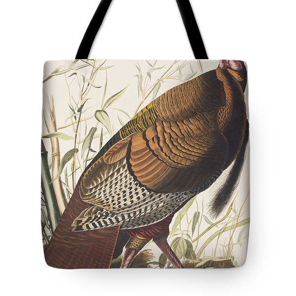 Wild Turkey Tote Bag by John James Audubon