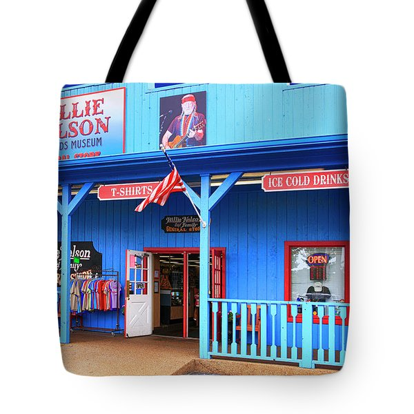 Willie Nelson And Friends Museum And Souvenir Store In Nashville, Tn, Usa Tote Bag