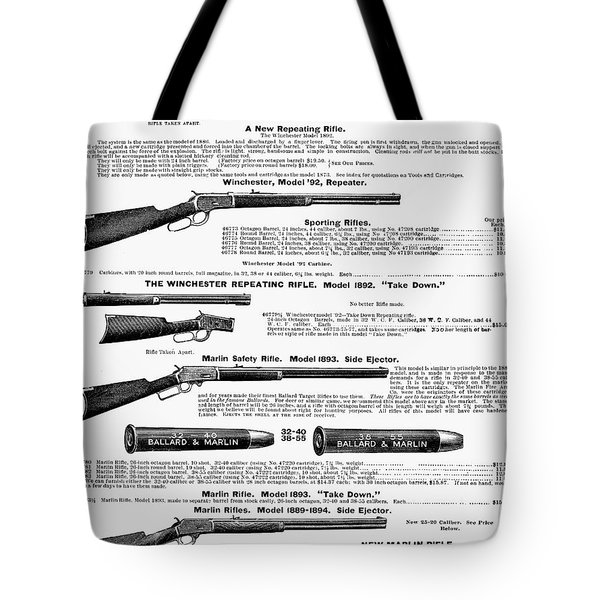 Winchester Rifles Tote Bag by Granger