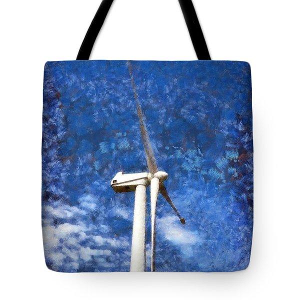 Wind Turbine Tote Bag