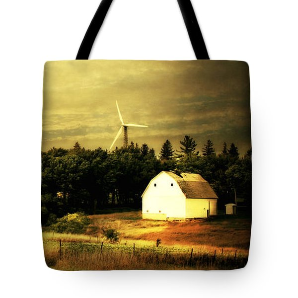 Tote Bag featuring the photograph Wind Turbines by Julie Hamilton