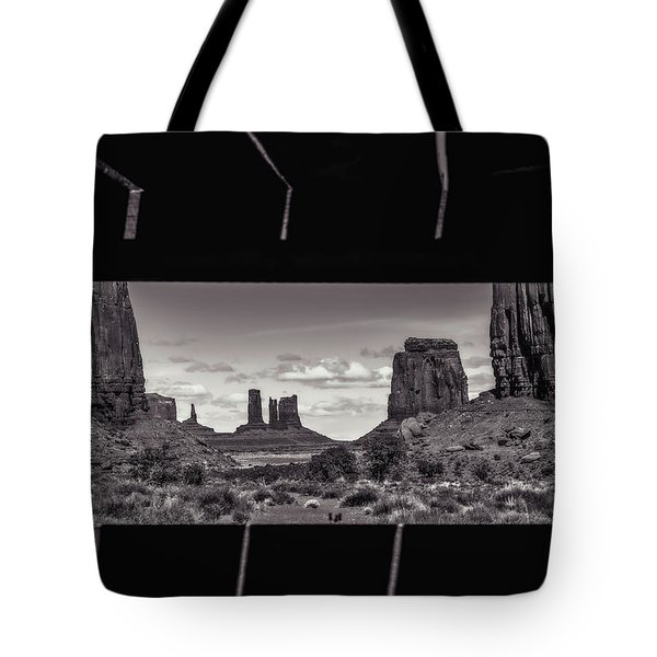 Tote Bag featuring the photograph Window Into Monument Valley by Eduard Moldoveanu