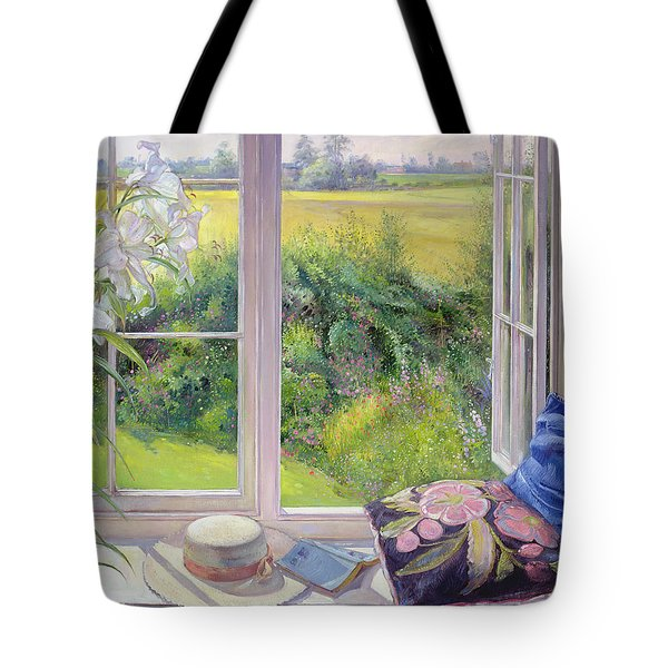 Window Seat And Lily Tote Bag
