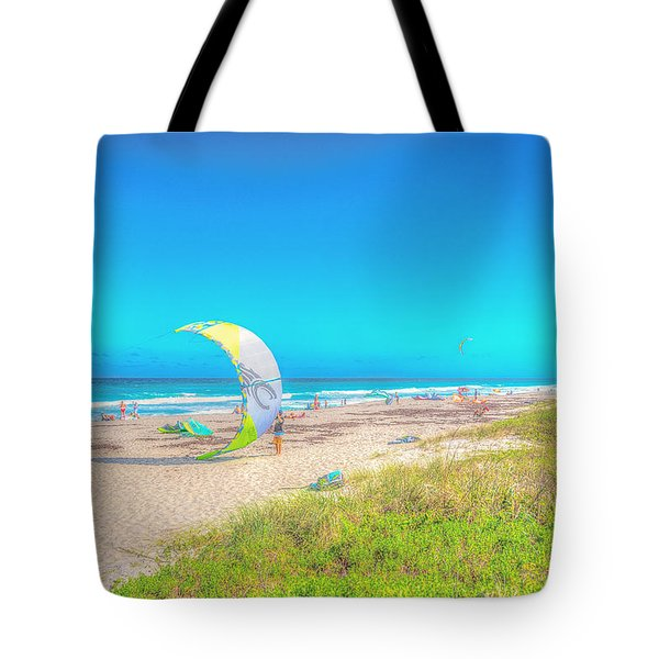 Windsurf Beach Tote Bag