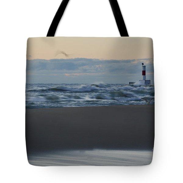 Windy Waukegan Beach Tote Bag