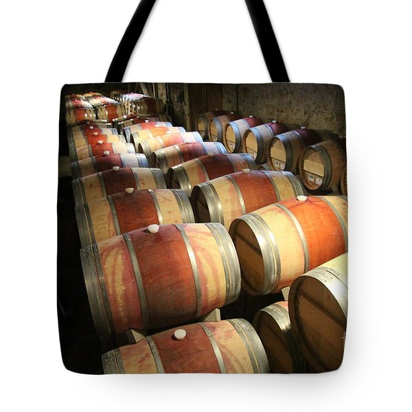Wine Barrels Tote Bag by Anthony Jones