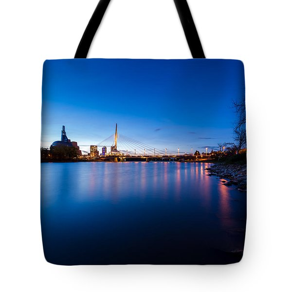 Winnipeg At Night Tote Bag
