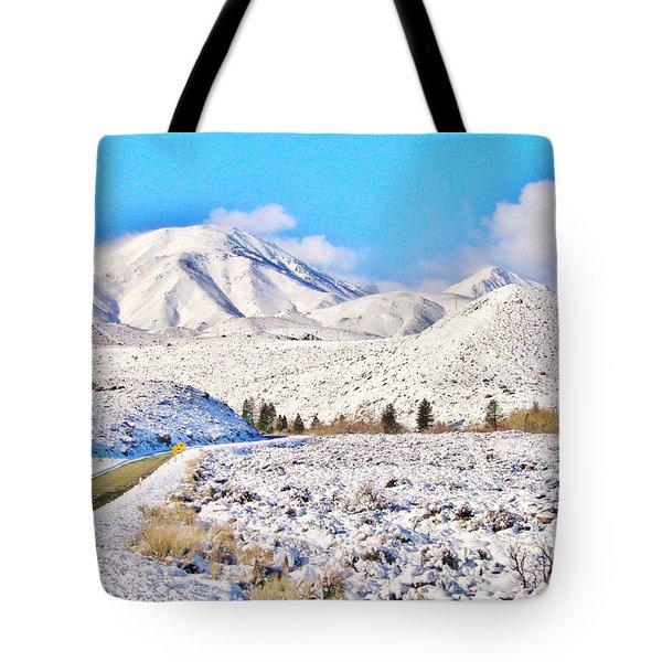 Winter Driving Tote Bag