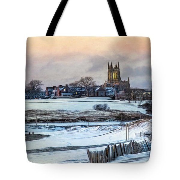 Tote Bag featuring the photograph Winter Dusk by Robin-Lee Vieira