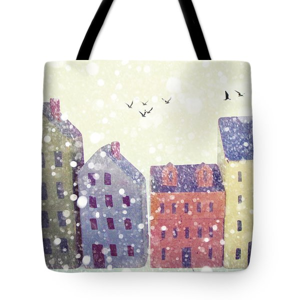 Tote Bag featuring the photograph Winter In Nantucket by Amy Tyler