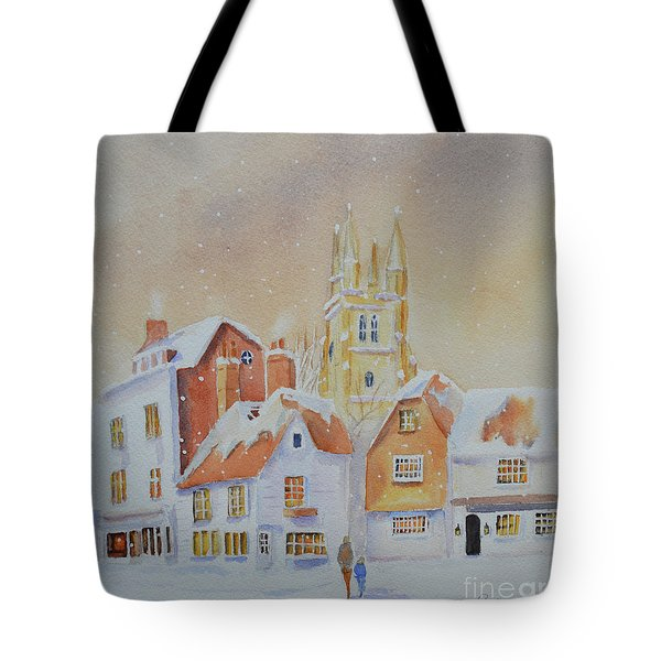 Winter In Tenterden Tote Bag by Beatrice Cloake
