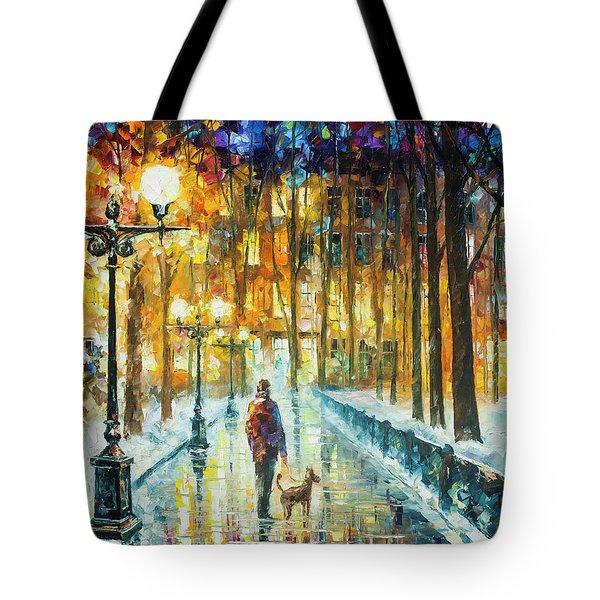 Winter Light  Tote Bag by Leonid Afremov