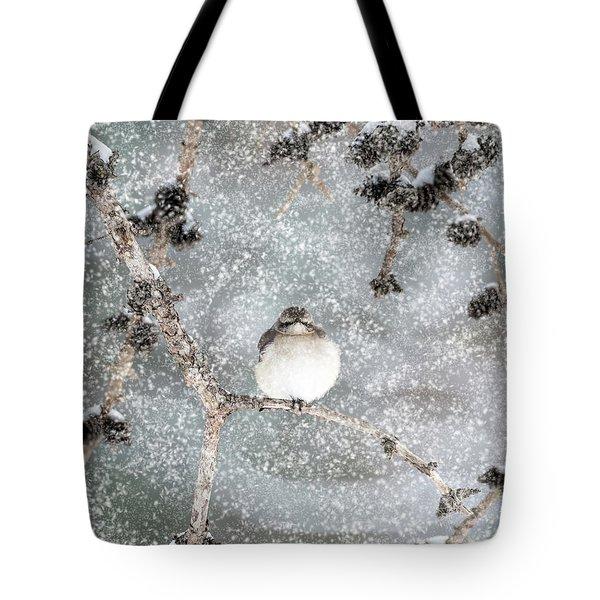 Winter Mockingbird Tote Bag