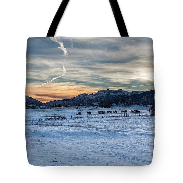 Winter Range Tote Bag