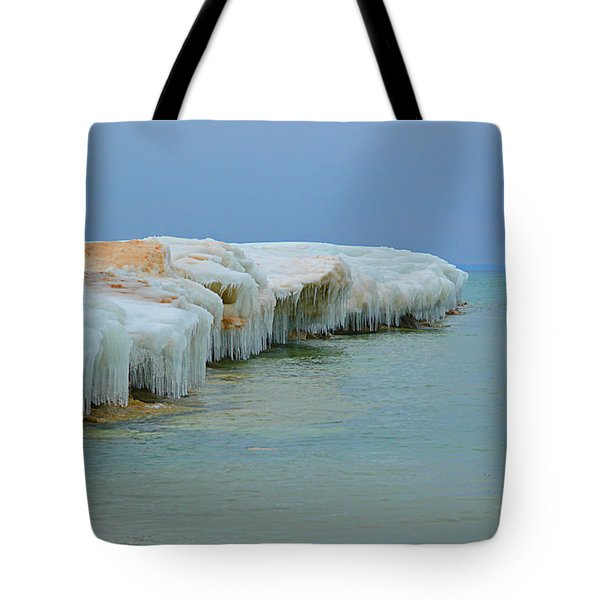 Tote Bag featuring the photograph Winter Sculpting by SimplyCMB