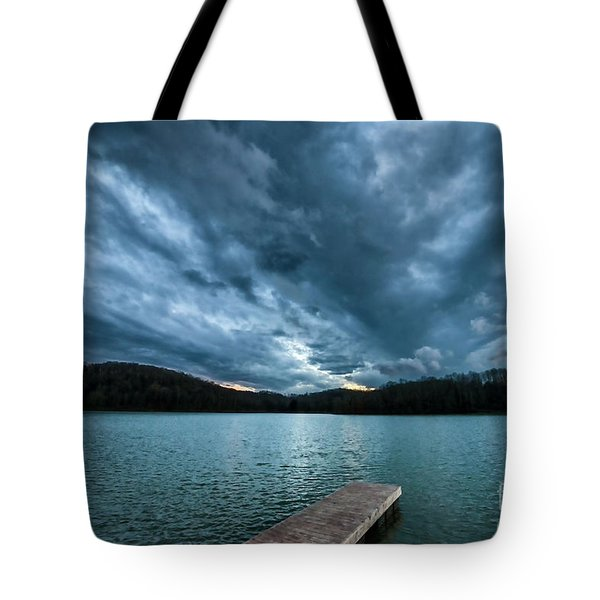 Tote Bag featuring the photograph Winter Storm Clouds by Thomas R Fletcher