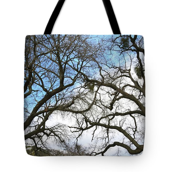 Tote Bag featuring the photograph Winter Trees At Fort Tejon Lebec California  by Floyd Snyder