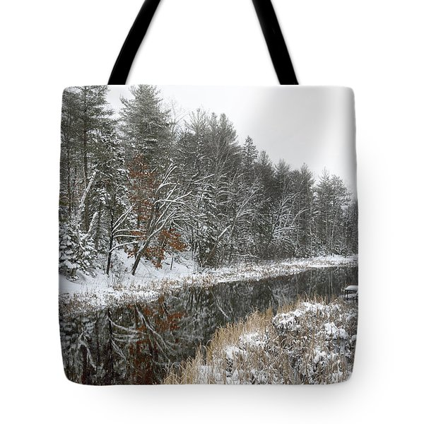 Winter Wonderland Reflection Tote Bag