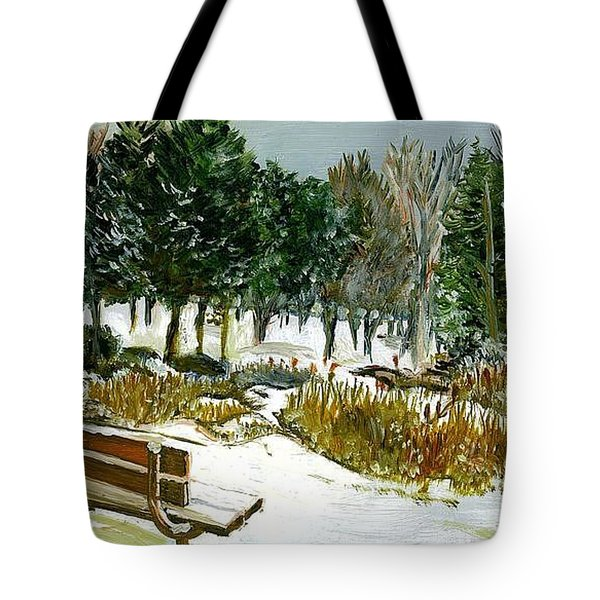 Winter's Invitation Tote Bag