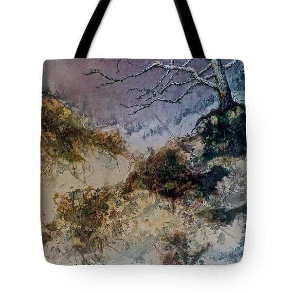 Tote Bag featuring the painting Winter's Morn by Carolyn Rosenberger