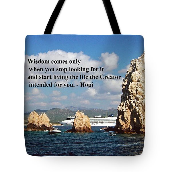 Tote Bag featuring the photograph Wisdom by Gary Wonning