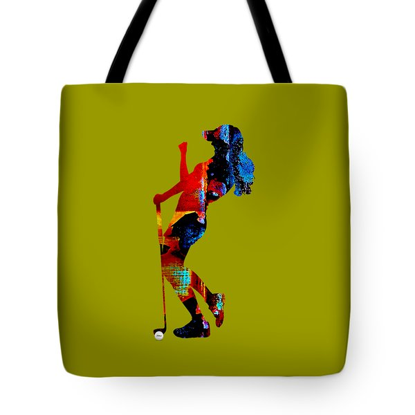 Womens Golf Collection Tote Bag by Marvin Blaine
