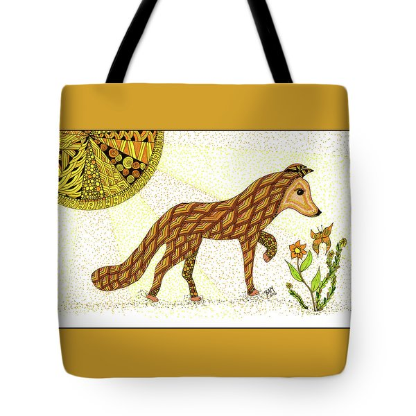 Tote Bag featuring the drawing Wonder by Barbara McConoughey