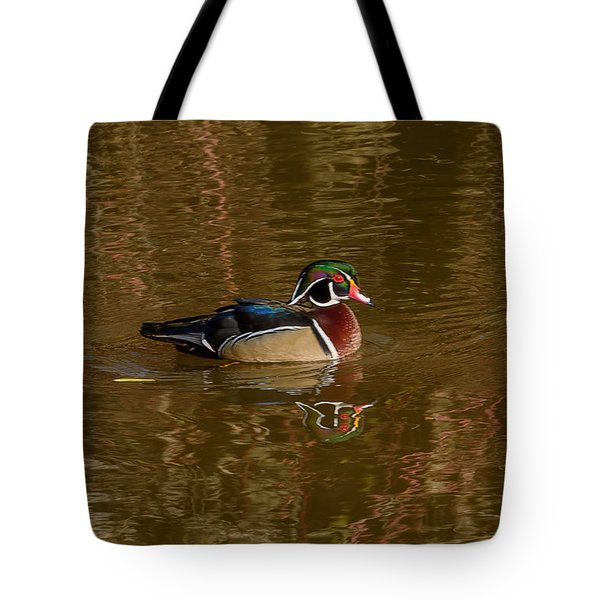 Wood Duck Tote Bag by Jerry Cahill