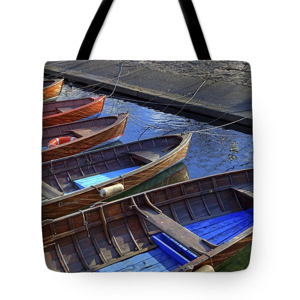 Wooden Boats Tote Bag by Joana Kruse