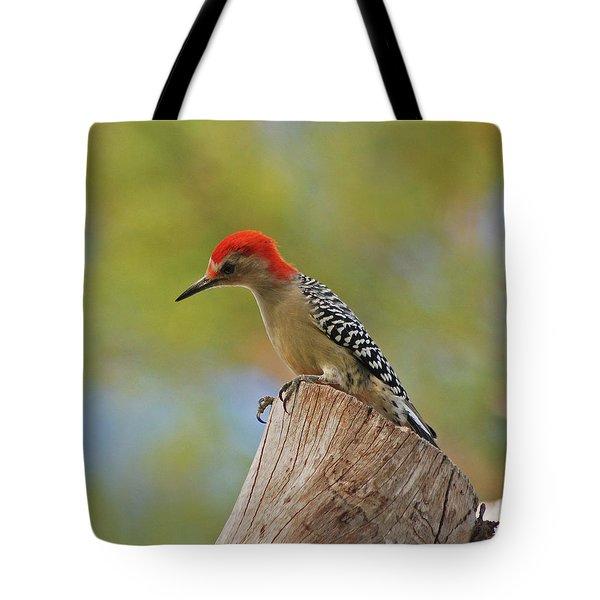 Tote Bag featuring the digital art 1- Woodpecker by Joseph Keane
