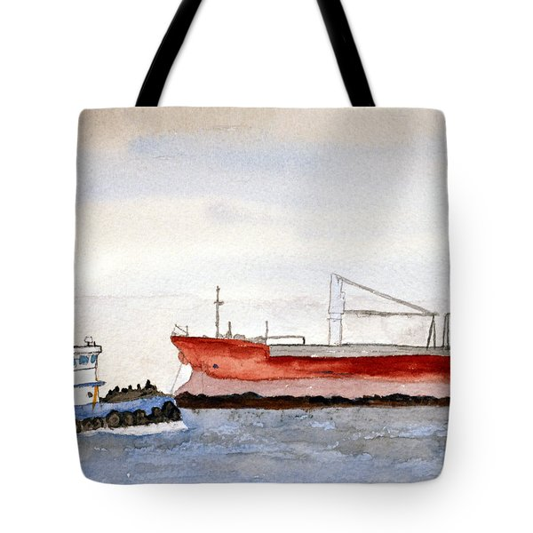 Working The Bay Tote Bag by R Kyllo