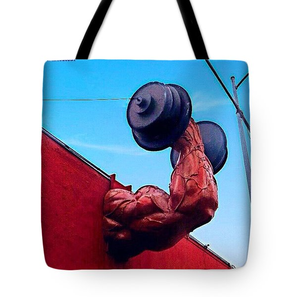 #workingout Is Really #nofun! #weights Tote Bag