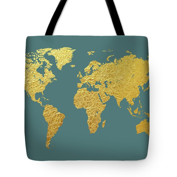 Map of the world tote bags fine art america world map gold foil tote bag gumiabroncs Gallery
