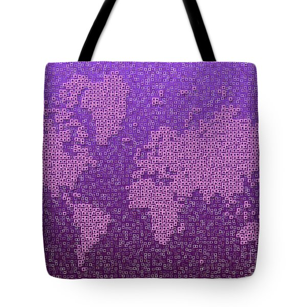 World Map Kotak In Purple Tote Bag