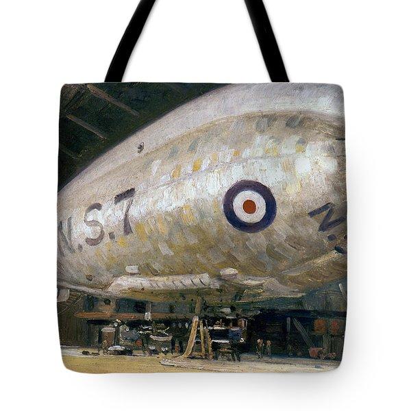 World War I: Airship Tote Bag by Granger